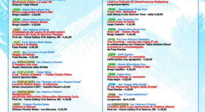 Siritidestate 2014 – Il Programma
