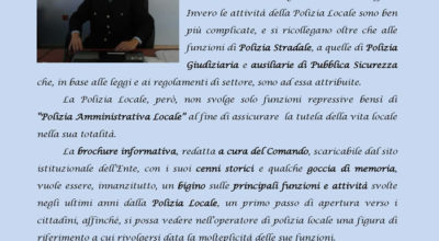 Presentazione Brochure informativa della Polizia Locale